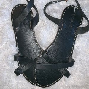 Madewell black sandals size 10
